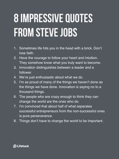 8 Rules Steve Jobs Lived By That Made Him A Huge Success - Motivational Quotes Career Quotes, Motivational Quotes For Success, Positive Quotes, Inspirational Quotes, Positive Attitude, Business Quotes, New Job Quotes, Business Tips, Life Advice