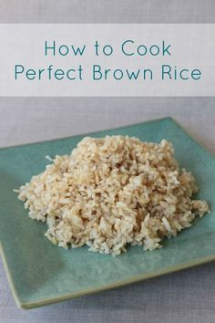 How to Cook Perfect Brown Rice from http://FrugalLivingNW.com