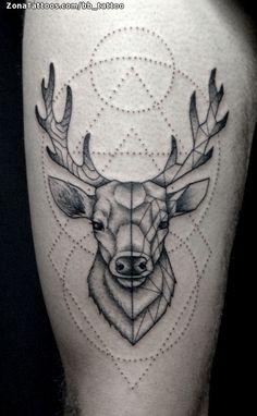 Foto tatuaje Ciervos, Geométricos, Animales