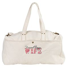 Navy (USN) Wife Duffle / Workout / Gym Bag with Pink Butterfly - - GirlWithDesignIdeas.com