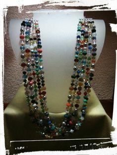 Donas de cristal en tonos variados!