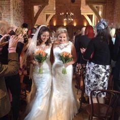 Two Brides at Shustoke Barns