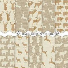 deer scrapbook paper - Google Search