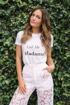 Call me Madame T-shirt   Rime Arodaky   Creatrice de Robe de Mariée
