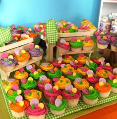 Such cute cupcakes at a Lalaloopsy Party!  See more party ideas at CatchMyParty.com!  #lalaloopsy #partyideas