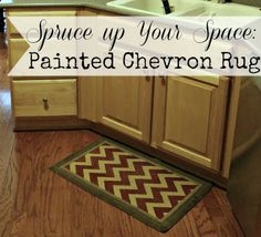 Painted Chevron Rug {spruce up a space for nothing!}