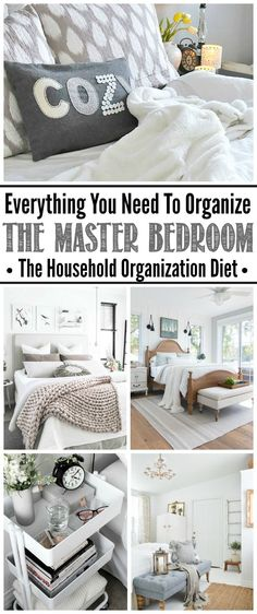 Master Bedroom Organization ideas. Tips, tricks, and tutorials to create an organized and relaxing master bedroom retreat.