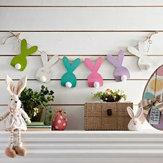 Multicolor Easter Bunny Banner