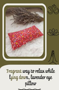Lavender eye pillow. #etsy #lavender #yoga #meditation Lavender Pillow, Yoga Meditation, Relax, Pillows, Eyes, Handmade Gifts, Floral, Kid Craft Gifts, Craft Gifts