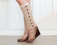 CROCHET PATTERN  Vintage French Leg Warmers by HopefulHoneyDesigns