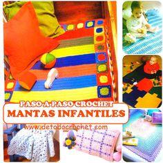 6 patrones y paso a paso de mantas para bebes - crochet