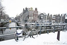 Amsterdam im Winter in den Niederlanden