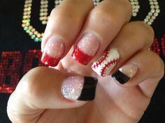 ♥ my baseball nails