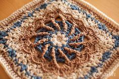 One Block Week CAL: Week 38 May Pole Square http://www.lookatwhatimade.net/crafts/yarn/crochet/block-a-week-cal-2014/block-38-may-pole-square-photo-tutorial/#comment-58949
