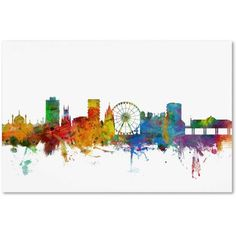Trademark Fine Art Brighton England Skyline II Canvas Art by Michael Tompsett, Size: 12 x 19, Multicolor