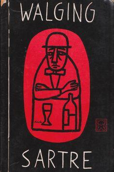 Book Jacket design by Dick Bruna, for Dutch edition of Jean-Paul Sartre, Walging Jean Paul Sartre, Graphic Design Books, Graphic Design Typography, Art Furniture, Book Cover Design, Book Design, Dorm Posters, Artist Sketchbook, Vintage Book Covers