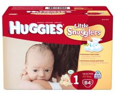 Huggies Little Snugglers Diapers, Size 1, 84-Count - http://www.intomars.com/huggies-little-snugglers-size-1-diapers.html