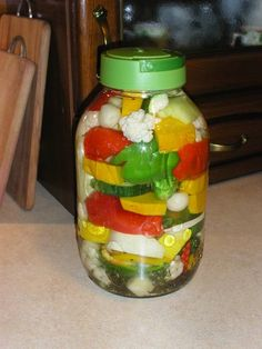 Warzywa kiszone Preserves, Celery, Salsa, Jar, Stuffed Peppers, Vegetables, Health, Food, Homemade Bbq Sauce Recipe
