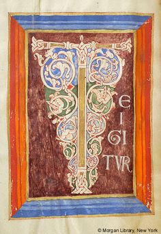 Sacramentary, MS G.21 fol. 3v - Images from Medieval and Renaissance Manuscripts - The Morgan Library & Museum