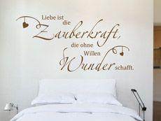 Wandtattoo Liebe ist das Einzige... - Liebe ist... Spruch von Wandtattoos.de