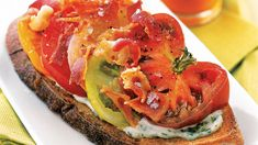 Open Faced BLT with a Twist.  Dinner Party Ideas for When It's Too Hot to Cook
