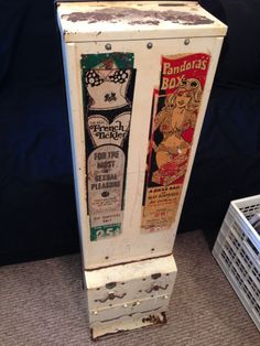 "Vintage Condom Machine 34"" Harmon AMCO Witchita French Tickler & Pandora's Box"