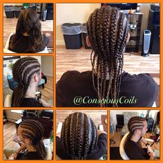 Style: Cornrows Client's Hair Type: 2b/c Hair Added: NA Products Used: Coiled! by Conscious Coils (Original Refresher Spray and Loc and Styling Gel)  Time: 1hr Style Duration: 1-2weeks  #consciouscoils #consciouscoilssalon #coiledbyconsciouscoils