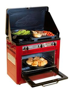 """Camp Chef. Best ratings for this type of gear. Nice for """"car camping""""."""