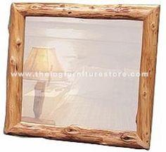 Log Picture Frames : Mobile homes, Cabin and Timber frames on Pinterest