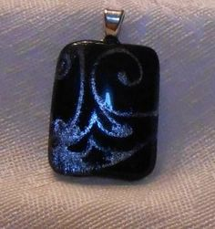 Unique swirling deep blue pendant by BeautyOffered on Etsy, $20.00