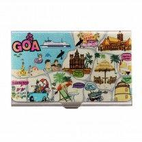 Goa Map Steel Card Holder by The Elephant Company