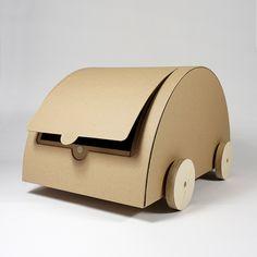 cardboard car - KAARA - natur 2