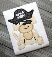 Pirate Dog Applique Design