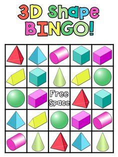 Great way for students to learn about 3D shapes!