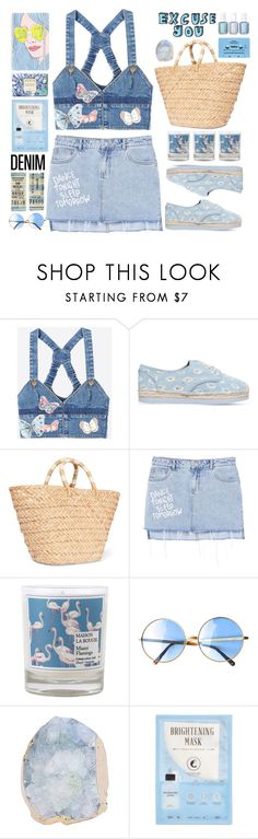 """""""All denim"""" by doga1 ❤ liked on Polyvore featuring Valentino, MICHAEL Michael Kors, Kayu, MANGO, Maison La Bougie, Chanel, CASSETTE, Kocostar, AERIN and alldenim"""