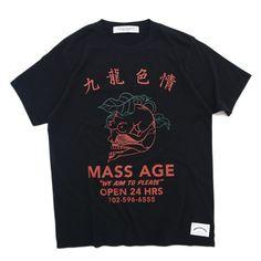 279680926 MASS AGE Tee Black | NEW ARRIVAL を通販 | SUPPLY TOKYO online store. Pat Balao  · TSHIRTS STREETWEAR