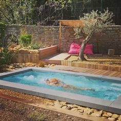 Small Swimming Pools, Small Backyard Pools, Backyard Pool Designs, Small Pools, Swimming Pools Backyard, Pool Spa, Swimming Pool Designs, Pool Decks, Patio Design