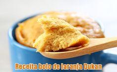 Bolo de laranja Dukan no micro-ondas - Receita #receitas #dukan #bolos #dieta #fitness #fit #light