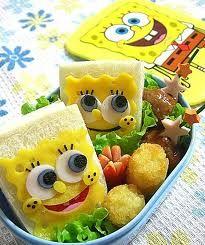 Spongebob sandwich bento