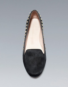 STUDDED PONY SKIN SLIPPER - Shoes - Woman - ZARA United States | fw2012