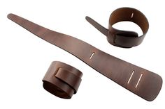 Brown loop leather cuff bracelet handmade double by bkkjewelrycom                                                                                                                                                                                 More