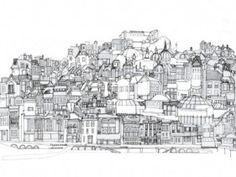 Abigail Daker Line Drawing of Brighton