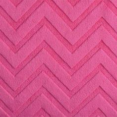 Plush Fuchsia Cuddle Fabric Embossed Chevton