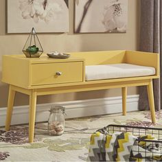 Branson Lake Wood Storage Bench & Reviews | AllModern