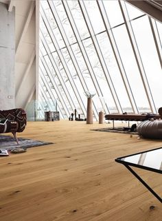 Parkett Penta | PD 550 | Eiche lebhaft 8091 | gebürstet | naturgeölt – Boden Wohnzimmer Meer MEISTER