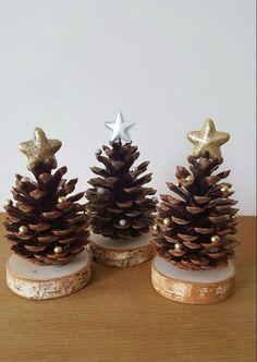 Homemade Christmas Decorations, Diy Christmas Ornaments, Rustic Christmas, Xmas Decorations, Handmade Christmas, Holiday Crafts, Christmas Holidays, Handmade Decorations, Ideas Decoracion Navidad