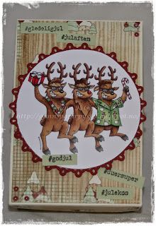 Gunns Papirpyssel, christmas box, gift box, jule eske, papirbretting, paperfolding, 3D, eske, paper, papir, scrapbooking, scrapping, kort, card