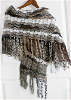 Crochet scarf with sleeve
