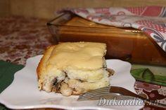 Наливной бисквитный пирог с курицей и грибами   Диета Дюкана