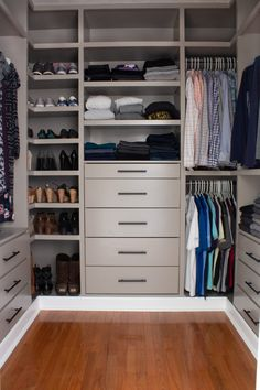 W White Wood Closet – The Home Depot Closet Walk-in, Closet Ikea, Build A Closet, Closet Storage, Walk In Closet, Closet Organization, Storage Room, Closet Drawers, Wood Closet Shelves